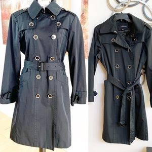 London Fog Silver Button Trench Coat